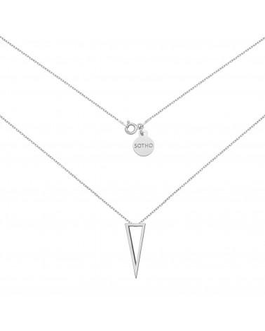 Srebrny naszyjnik z przestrzennym trójkątem