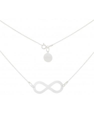 Srebrny naszyjnik z dużym symbolem nieskończoności