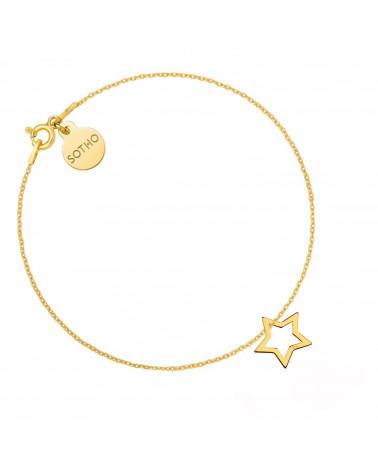 Złota bransoletka z gwiazdką