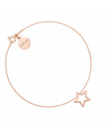 Bransoletka z różowego złota z gwiazdką