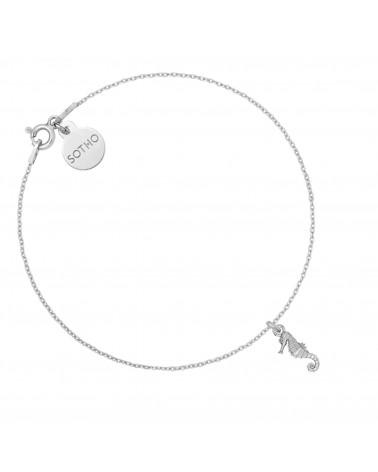 Srebrna bransoletka z konikiem morskim