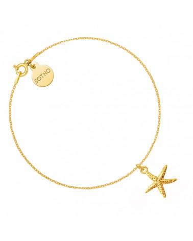 Złota bransoletka z rozgwiazdą