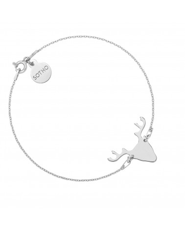 Srebrna bransoletka z jeleniem