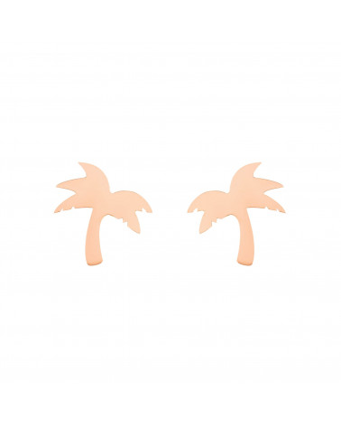 Kolczyki palmy z różowego złota