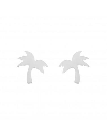 Srebrne kolczyki palmy