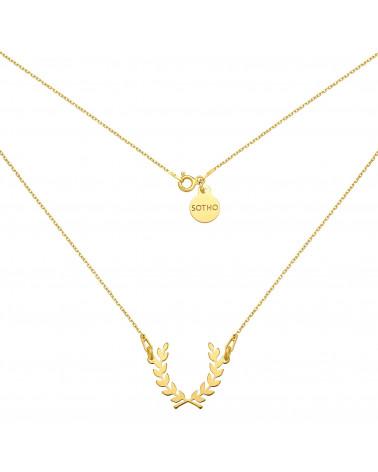 Złoty naszyjnik z liściem laurowym
