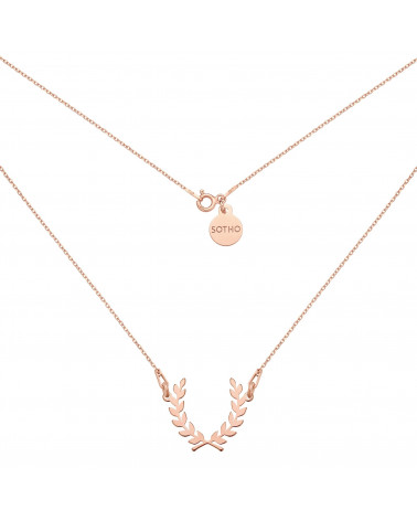 Naszyjnik z liściem laurowym z różowego złota