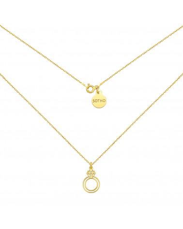 Bransoletka z granatowych pereł SWAROVSKI® CRYSTAL ze śnieżynką z różowego złota