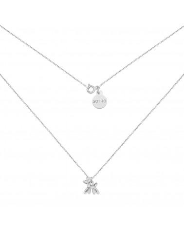 Perłowa bransoletka z opalizujących pereł SWAROVSKI® CRYSTAL ze złotym reniferkiem