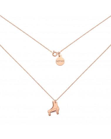 Naszyjnik z wrotką z różowego złota