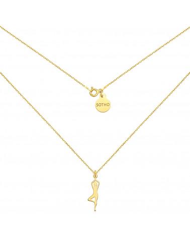 Czerwona bransoletka z pereł SWAROVSKI® CRYSTAL z ażurowym aniołkiem z różowego złota