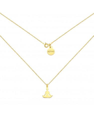 Czarna bransoletka z pereł SWAROVSKI® CRYSTAL ze złotym ażurowym aniołkiem