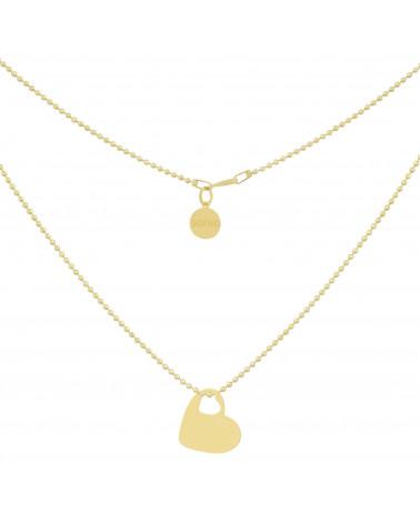 Złoty naszyjnik z sercem