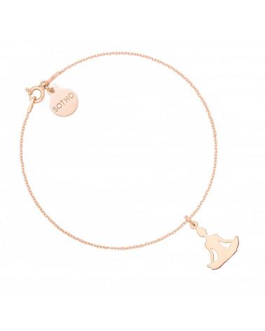 Kolczyki serduszka z różowego złota
