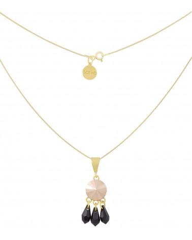 Kryształowy złoty naszyjnik Rose Gold SWAROVSKI® ELEMENTS