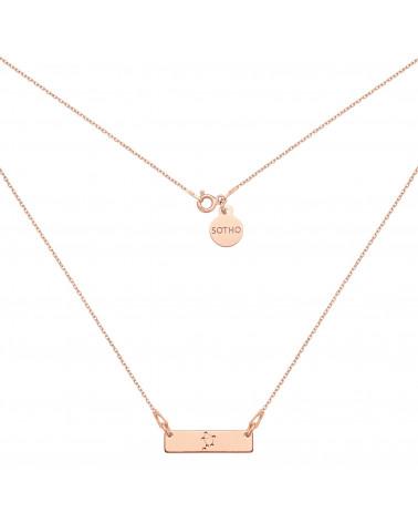 Naszyjnik z różowego złota z konstelacją Wagi