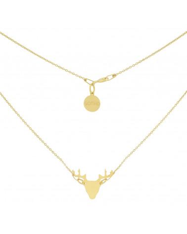 Złoty naszyjnik z jeleniem