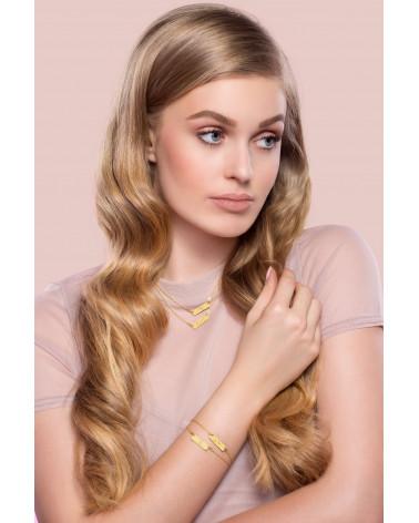 Beżowy aksamitny choker z krzyżykiem z różowego złota wysadzanym SWAROVSKI® CRYSTAL