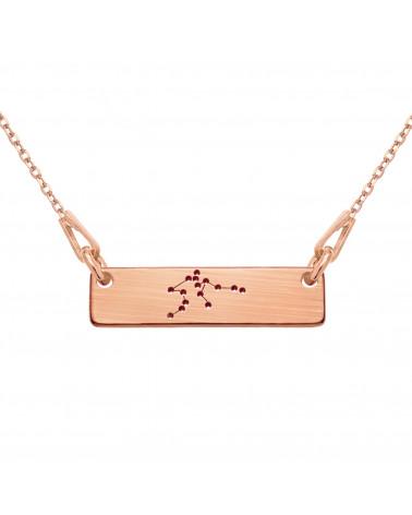 Zielony aksamitny choker z krzyżykiem z różowego złota wysadzanym SWAROVSKI® CRYSTAL