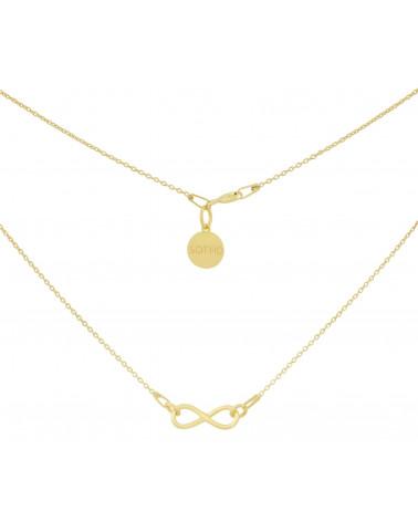 Złoty naszyjnik z symbolem nieskończoości