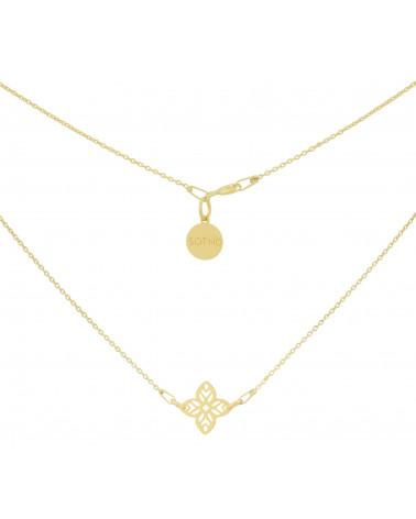 Złoty naszyjnik z arabską rozetą