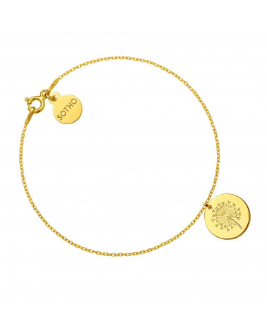 Złota bransoletka z dmuchawcem