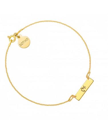 Złota bransoletka z konstelacją Strzelca