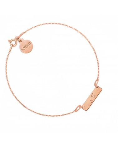 Bransoletka z matowego różowego złota z konstelacją Lwa