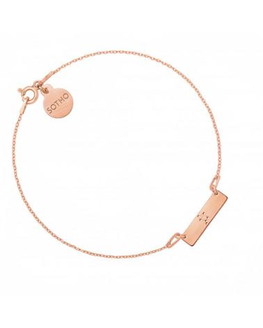 Bransoletka z matowego różowego złota z konstelacją Wagi
