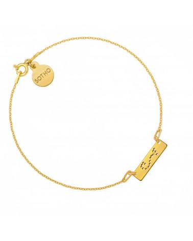 Złota matowa bransoletka z konstelacją Skorpiona