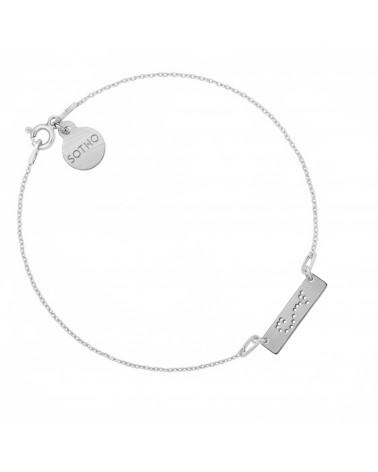 Srebrna matowa bransoletka z konstelacją Skorpiona
