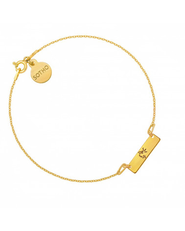 Złota matowa bransoletka z konstelacją Strzelca