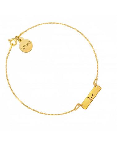 Złota matowa bransoletka z konstelacją Ryb