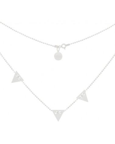 Srebrny naszyjnik z trzema trójkątami
