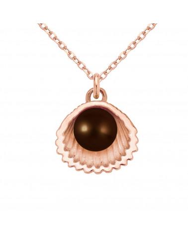 Kobaltowy aksamitny choker z sześciokątem z różowego złota