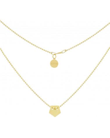 Złoty naszyjnik z pagonem
