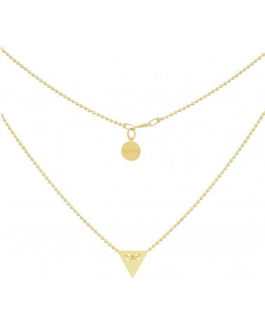 Złoty naszyjnik z trójkątem