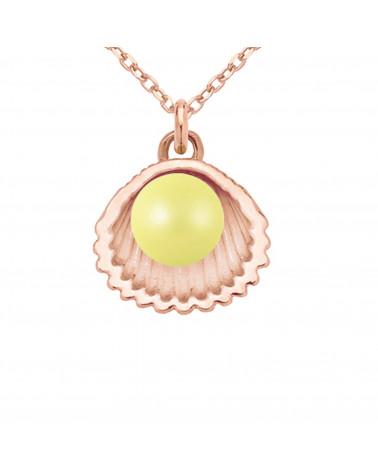 Fioletowy aksamitny choker ze złotym sześciokątem