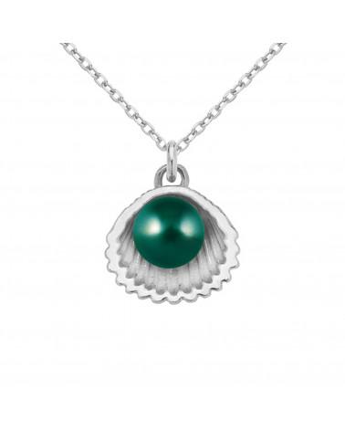 Naszyjnik z różowego złota i czekoladowym kryształem SWAROVSKI® CRYSTAL