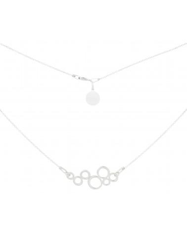 Srebrny naszyjnik z ozdoba z kółeczek