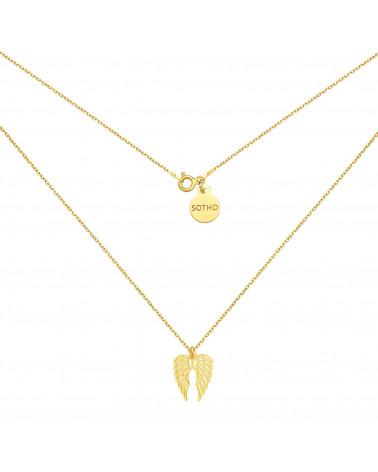 Naszyjnik z jeleniem z różowego złota
