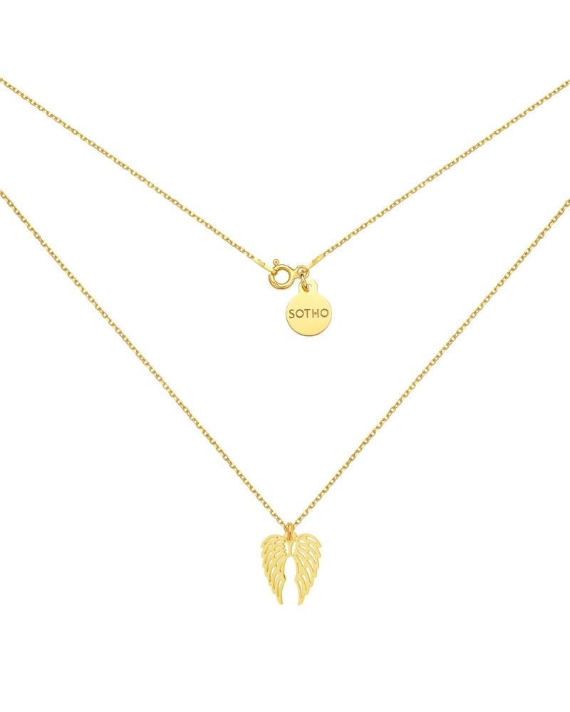 Złoty naszyjnik ze skrzydełkami