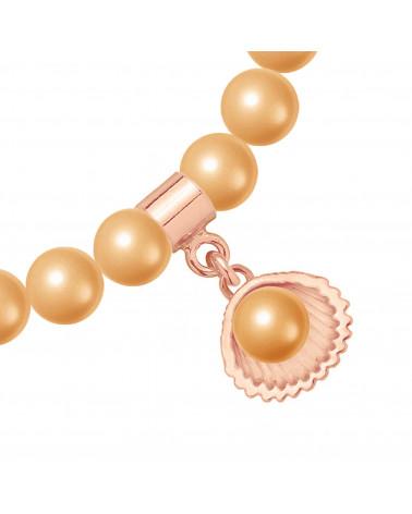 Perłowa bransoletka z pereł SWAROVSKI® CRYSTAL ze złotą ważką