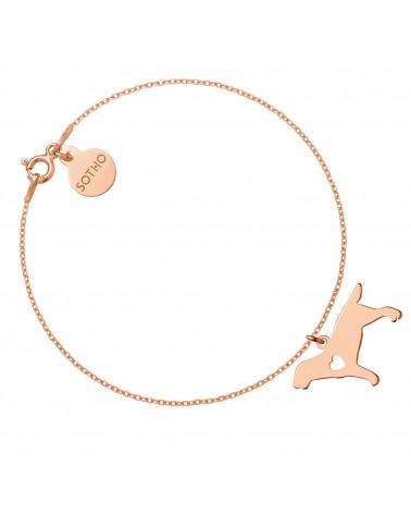 Bransoletka z różowego złota z psem rasy labrador retriever