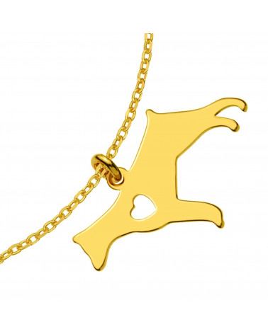 Naszyjnik z różowego złota z ażurową rozetką