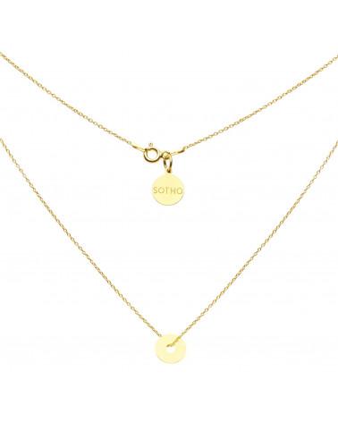 Złoty naszyjnik z małą Karmą