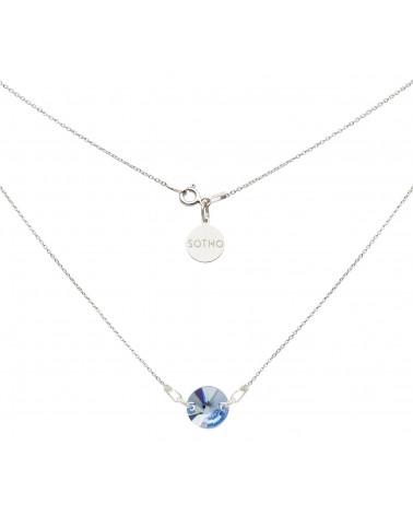 Srebrny naszyjnik z niebieskim kryształem SWAROVSKI® ELEMENTS