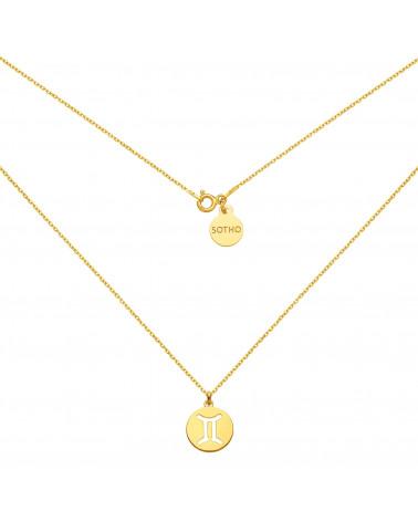 Złote kolczyki z trójkątami