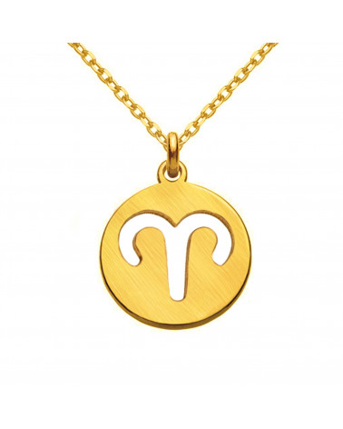 Złoty naszyjnik z blaszką i kryształkami SWAROVSKI® CRYSTAL