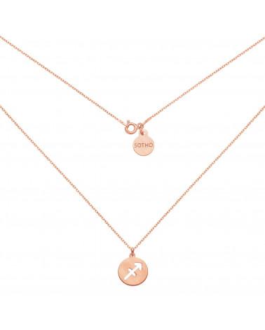 Srebrne kolczyki z rozetką i różowym kryształem SWAROVSKI® CRYSTAL